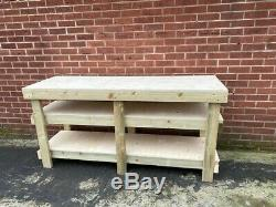 6ft Plywood Workbench With 2 Shelves Heavy Duty- 18mm Plywood