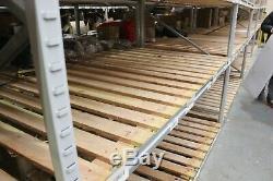 6x Extra Large Heavy Duty Racking Shelving Bays Apex Longspan Warehouse Storage
