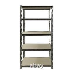 72H 5 Shelf Garage Steel Metal Storage Shelving Organize Heavy Duty Rack Unit