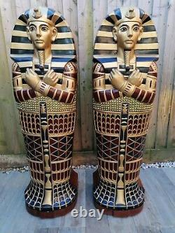 A Stunning Egyptian Sarcophagus Statues shelving units for storage Books, Cd, Ga