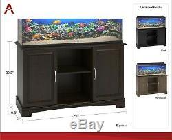 Ameriwood Home Alta Vista 50 75 Gallon Aquarium Stand Black Heavy Duty Shelves