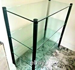 Apollo Mezzo Soprano Double Width 4 Shelf Heavy Duty Glass Hi Fi Stand / Rack