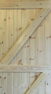BESPOKE Heavy Duty Ledge & Braced T/G Outbuilding Garage Shed Wooden Door