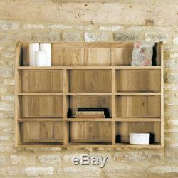 Baumhaus Assembled Solid Mobel Oak Reversible Wall Rack Shelving Unit