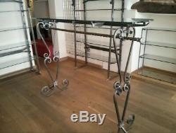 Bespoke Wrought Iron Retail Racking / Shelving Heavy Duty
