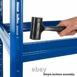 BiGDUG Heavy Duty Extra Wide Garage Shelving Unit, Steel 4 Tier Racking, 177cm