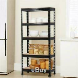Black Metal Heavy Duty 5 Level Garage Storage Rack Set Of 3 Adjustable Shelves