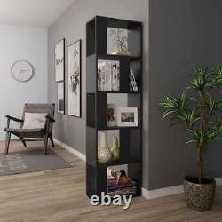 Book Cabinet Room Divider High Gloss Rack Unit Shelf Storage Display Bookcase