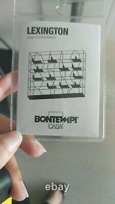 Brand new graphite grey 5 levelled Bontempi bookshelf, 41cm x 128cm x 183cm
