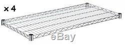 Chrome Wire Shelving Unit Storage Racking New Heavy Duty Rack Commercial Shelf
