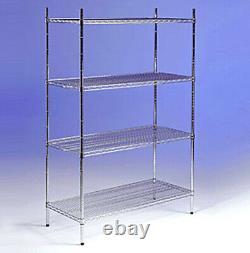 Chrome wire racking heavy duty mesh shelving, Kitchen, Office, Garage