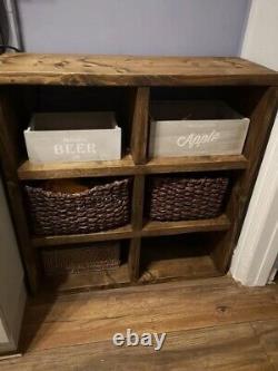 Chunky Handmade Rustic Pine Large Cube Storage/Shelving Unit