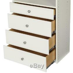 Closet Shelves Organizer Drawer Storage Durable Wood Heavy Duty Hanger Bar Steel