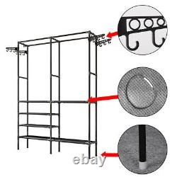 Clothes Rail Heavy Duty Garment Rack Hanging Display Stand Shoe Storage Shelves