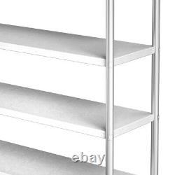 Commercial 4/5 Tier Storage Rack Unit Shelf Kitchen Stainless Steel Organizer