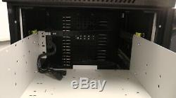 Comms server cabinet heavy duty 4 pull to shelves on wheels with cooling fan