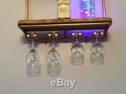 Copper Pipe Shelving Unit/ Mini Bar