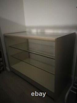 Counters Retail Shop Display Cabinet Glass Shelf Showcase Heavy Duty RRP £290