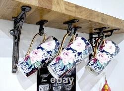 Cup Hook / Coffee Mug Hooks X8 Iron / Utility Hook / Under Shelf Hooks Rustic