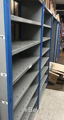 Dexion 5 Bay Tier 6ft 1.7m Metal Boltless Industrial Heavy Duty Shelving Racking