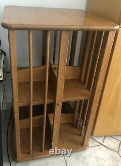 Ercol Revolving Oak Bookcase Golden Oak