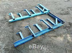 Ex MOD 6 Tier Pole Tube Wood Racking Shelving Storage Rack Heavy Duty
