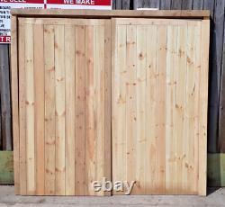 Framed Wooden Garage Doors Heavy Duty Frame, Ledge & Braced 2140mm x 2220mm