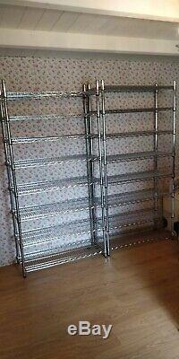 Freestanding Eclipse heavy duty chrome shelving unit 360kg max load