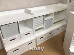 GLTC Northcote Modular Storage Shelf Units, White, Children / Office