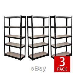 Garage Heavy Duty Racking Shelves Units 180cm x 40cm x 90 cm (175KG Per Shelf)