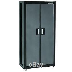 Garage Metal Tool File Storage Cabinet Adjustable Shelving Heavy Duty Steel Door