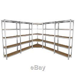 Garage Racking Galvanised Steel Storage Shelving Metal Heavy Duty Shelves 5 Tier