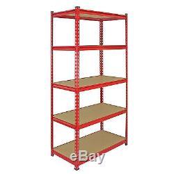 Garage Racking Heavy Duty Shelving Unit Storage Z Racks Shelves Bays 5 Tier 90cm