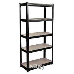 Garage Shelves Shelving Unit 5 Tier Racking Boltless Heavy Duty Storage Shelf UK