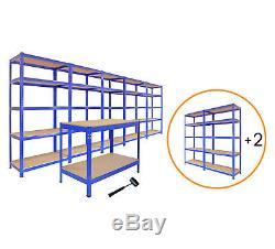Garage Shelves Shelving Unit Racking Boltless Heavy Duty Storage Shelf