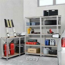 Garage Shelving Unit 5 Tier Boltless Metal Racking Shelf Storage Work Benches