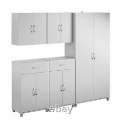 Garage Storage Cabinet System 18 Shelves Grey Springboro