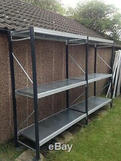 Garage large heavy duty storage shelving metal unit Shelves 600 x 2100 x 3109 cm