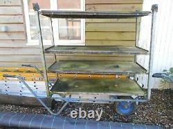 Geest Barrow Garden wooden vintage trolley Danish shelves