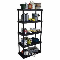 Gracious Living Knect A Shelf Heavy Duty Storage 5 Tier Shelving Unit (2 Pack)