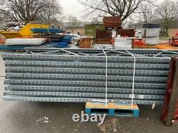 HEAVY DUTY WAREHOUSE PALLET RACKING 2 UPRIGHT 6.1m x 900mm and 4 BEAMS 2.8m £180