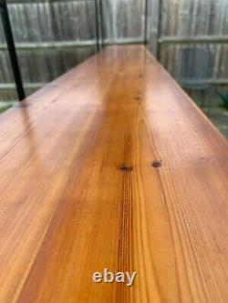 Habitat shelving unit, wooden shelves on a metal rack L200XH220XW29cm