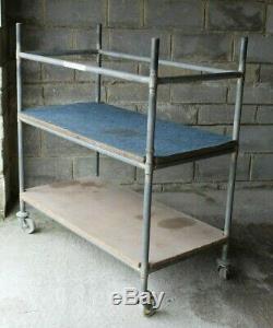 Heavy Duty 3 Tier Trolley On Castors 3 Shelves Industrial