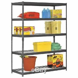 Heavy Duty 5 Shelf Steel Wire Rack 60 x 24 x 78 Garage Storage Shop Shelving NEW