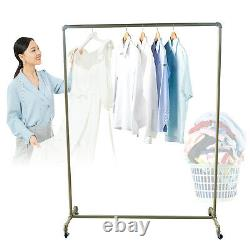 Heavy Duty Clothes Rail Rack Garment Hanging Display Stand Storage Shelf Gold UK