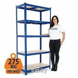 Heavy Duty Garage Racking/Shelving Units 5 Tier Metal Storage Racks 275kg UDL