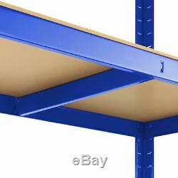 Heavy Duty Garage Racking Storage Shelving Units Boltless Thicken Shelves 5 Tier