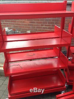 Heavy Duty Industrial Steel Shelving Trolley units with locking castors (3 bays)
