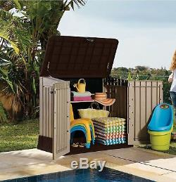 Heavy Duty Large Secure Outdoor Tough Garden Storage Space Internal Shelves Shed