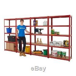 Heavy Duty Metal 5 Tier Shelving Unit Boltless Racking Garage Storage